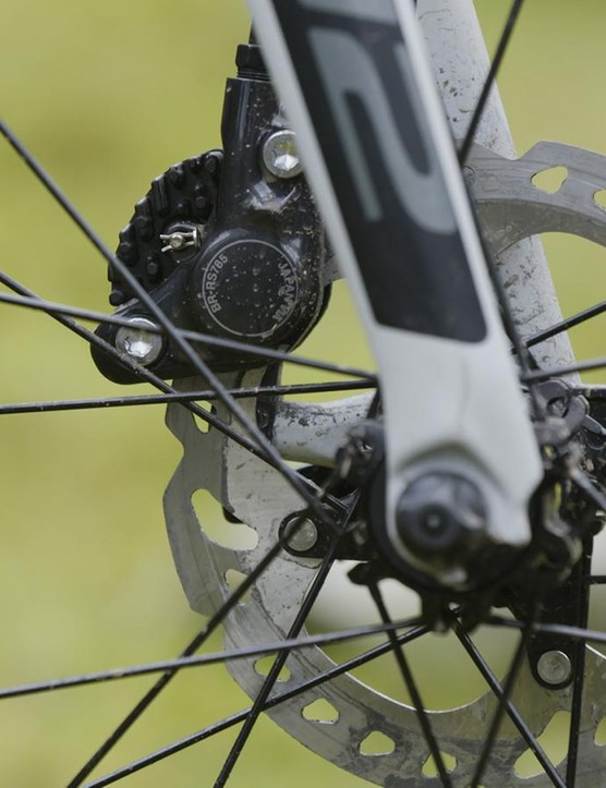 Shimano's hydraulic disc brakes perform with assurance