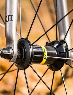 Mavic Aksium wheels may appear simple,  but they're quick