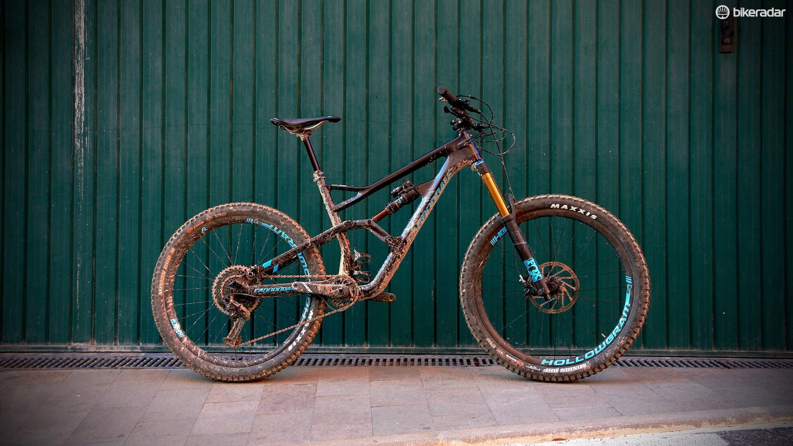 The Jekyll 1 is a top-end enduro bike — sorry about the mud!