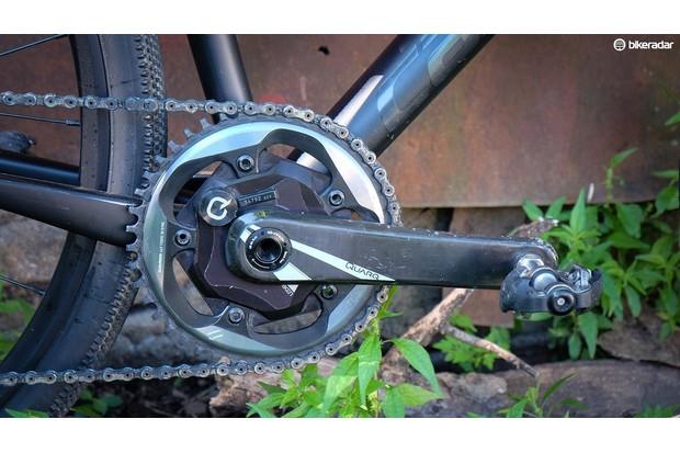 Wide range 1x drivetrains are common for gravel grinding