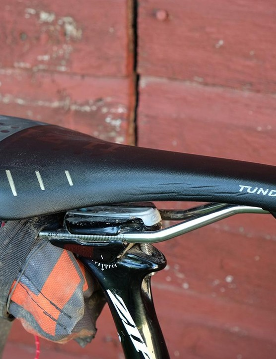 King's saddle of choice is a well-worn Fizik Tundra
