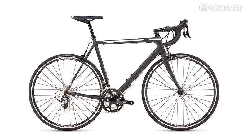 Cannondale SuperSix Evo Tiagra 6 has the racy angles of its more illustrious cousins