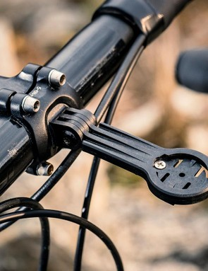 The stem mount for your Garmin is a neat touch