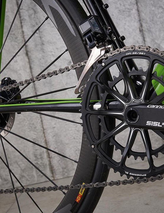 The SiSL2 chainset with its 10-arm one-piece ring combo is artfully engineered