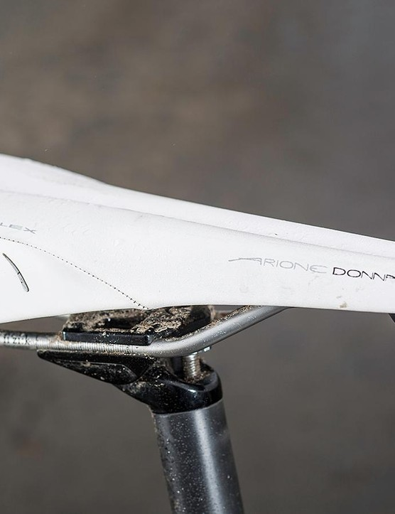 Fizik's Arione Donna saddle provides all-day comfort