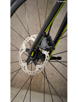 I don't feel the addition of disc brakes has altered ride quality