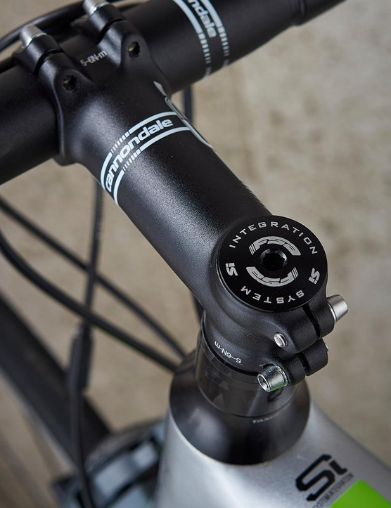 Cannondale's own bar and stem complete the cockpit setup
