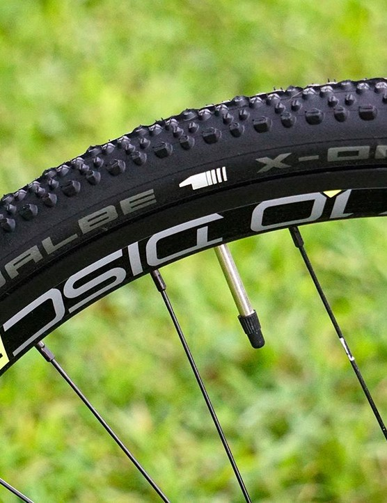 Schwalbe X-One tires are on several of this season's CX bikes and for good reason, they hook up