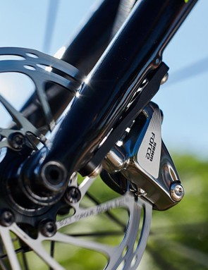Power is nothing without control, and here SRAM's Force HRD hydraulic brakes do the business