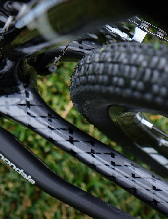 Tire clearance is excellent — bring on the mud!