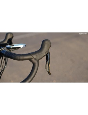 Shimano's new hydraulic-brake/mechanical-shift Dura-Ace 9120 levers are a bit larger than all-mechanical levers, but not absurdly so
