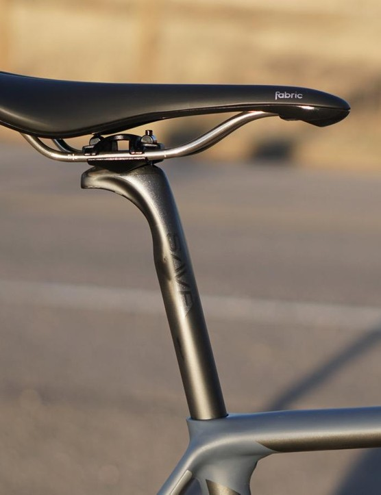 Most standard road seatposts are 27.2mm in diameter. Cannondale goes with a narrower 25.4mm post, which flexes more