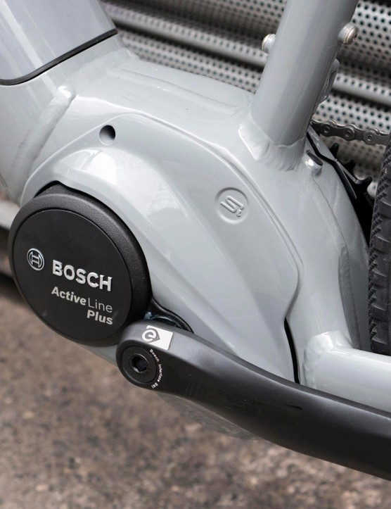 The motor also features a cover, helping the bike's looks