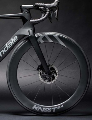 Cannondale has also developed a new 64mm deep carbon disc wheel called the KNOT64