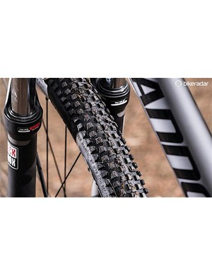 RockShox XC30 fork and Nine Line tyres