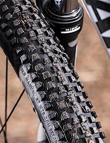 RockShox XC30 fork and Nine Line tyres