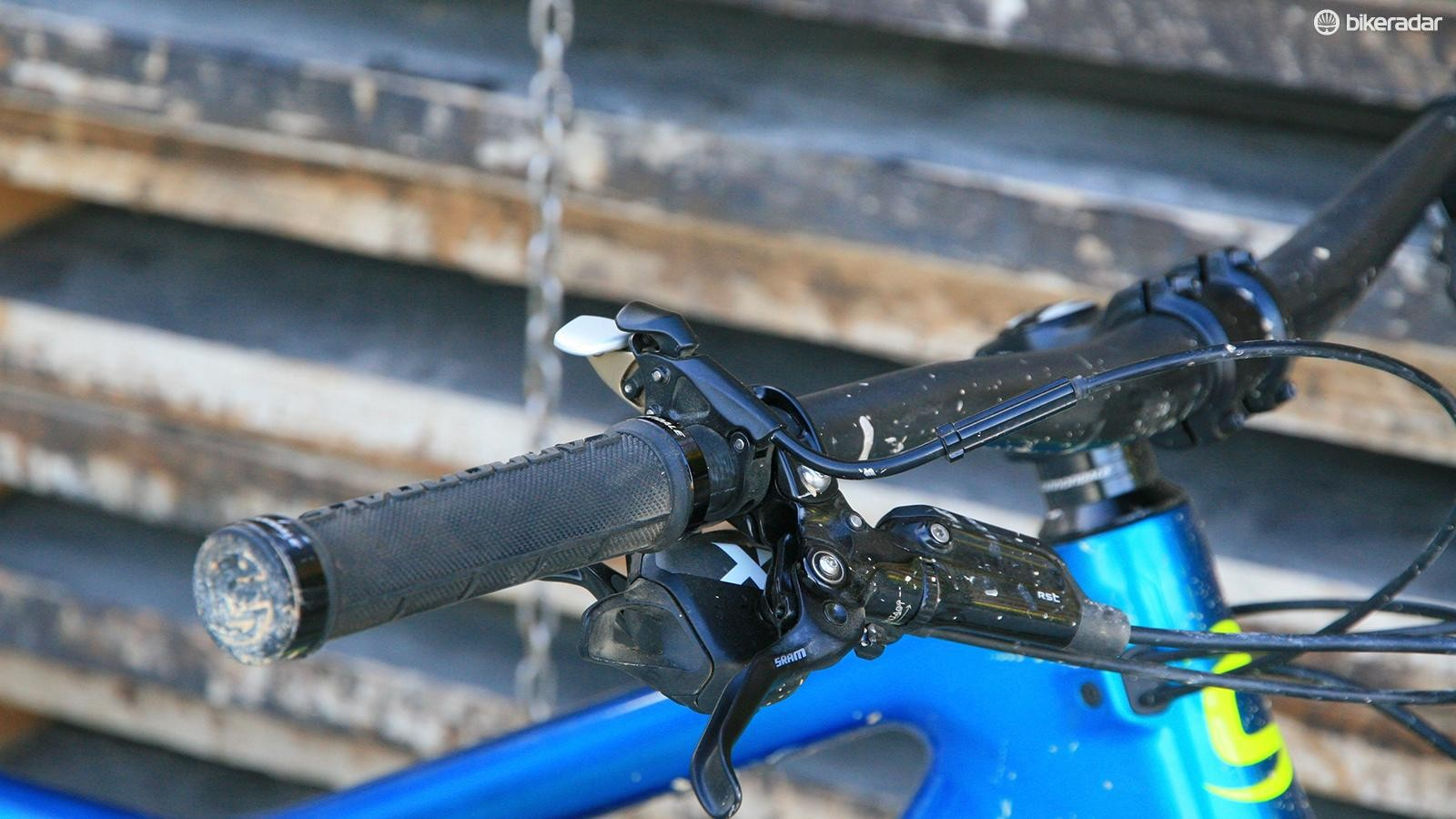 Bar mounted Gemini lever