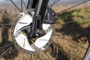 160mm rotors look kinda big, but boy do they feel great on steep descents