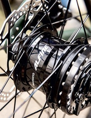 Shimano's Alfine 11-speed internally geared hub means minimal maintenance