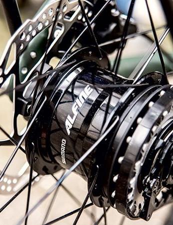 Shimano's Alfine 11-speed internally geared hub means minimal maintenance