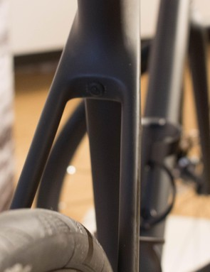 The frame has bridgeless seatstays, and loads of tyre clearance