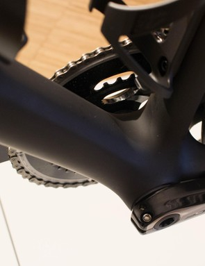 Extra stiffness has been built into the frame, where it doesn't interfere with aero properties
