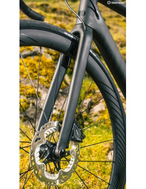 For compliance up front the Canyon relies on the tyre and slimline fork