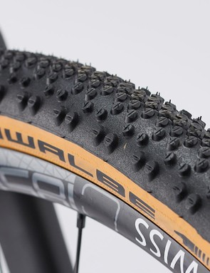 The evenly-spaced tread blocks on the G-One Bites hunt out every scrap of traction