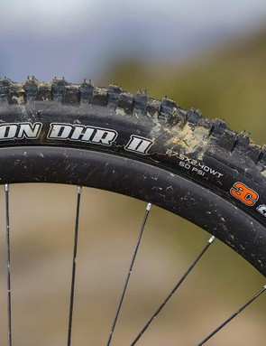 Beefy Maxxis Minion DHR II tyres on the front provide ample grip