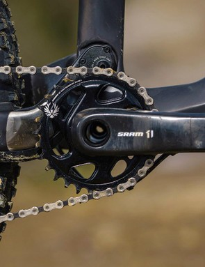 Plenty of gears with the slick 12-speed SRAM Eagle groupset