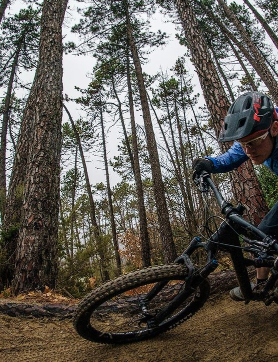 Grippy plus-tyres let you lay it low