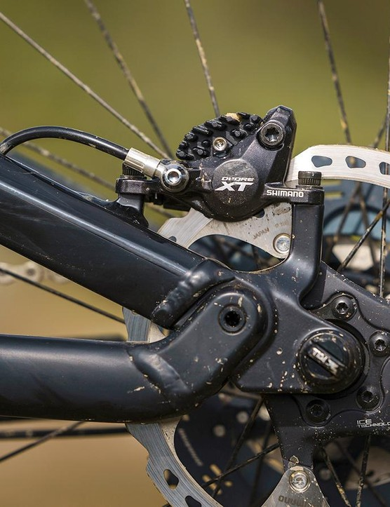 We've had mixed experiences with Shimano's XT brakes, but these performed well throughout the test