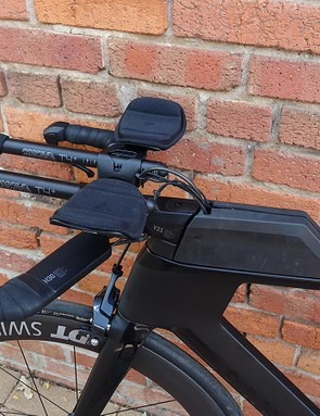 The Profile aerobars offer a wide range of adjustment, but make getting narrow a little difficult
