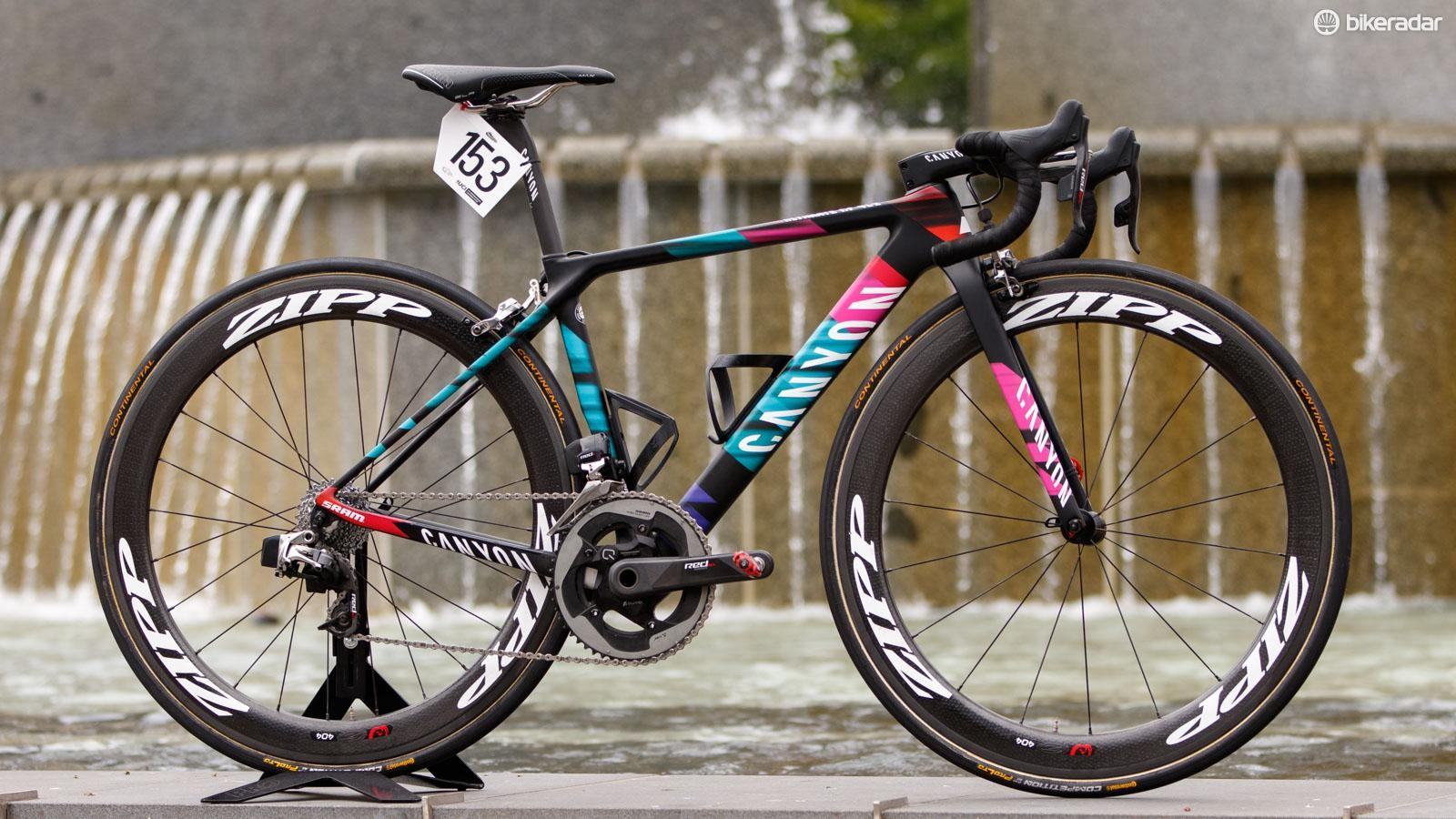 Tiffany Cromwell's 2016 Canyon Ultimate CF SLX with SRAM eTap. The bike of the new Canyon//SRAM Pro Cycling team