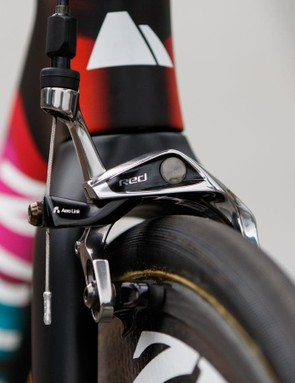 The brake calipers are the same as those in SRAM's Red 22 mechanical groupset