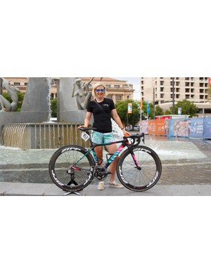Tiffany Cromwell and her new Canyon Ultimate CF SLX