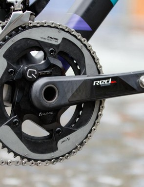 This Quarq power meter is listed as a 'eTap' model. It's the same as the brand's Red 22 version, but with a revised graphic