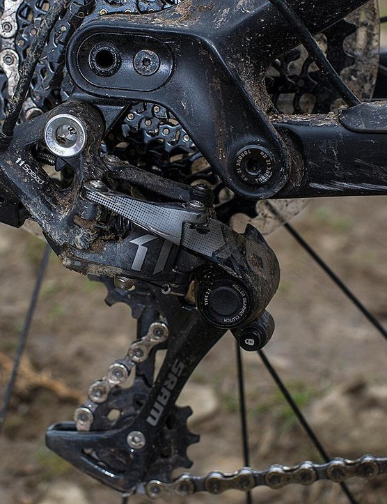11-speed X01 gearing forms part of a SRAM-heavy spec sheet