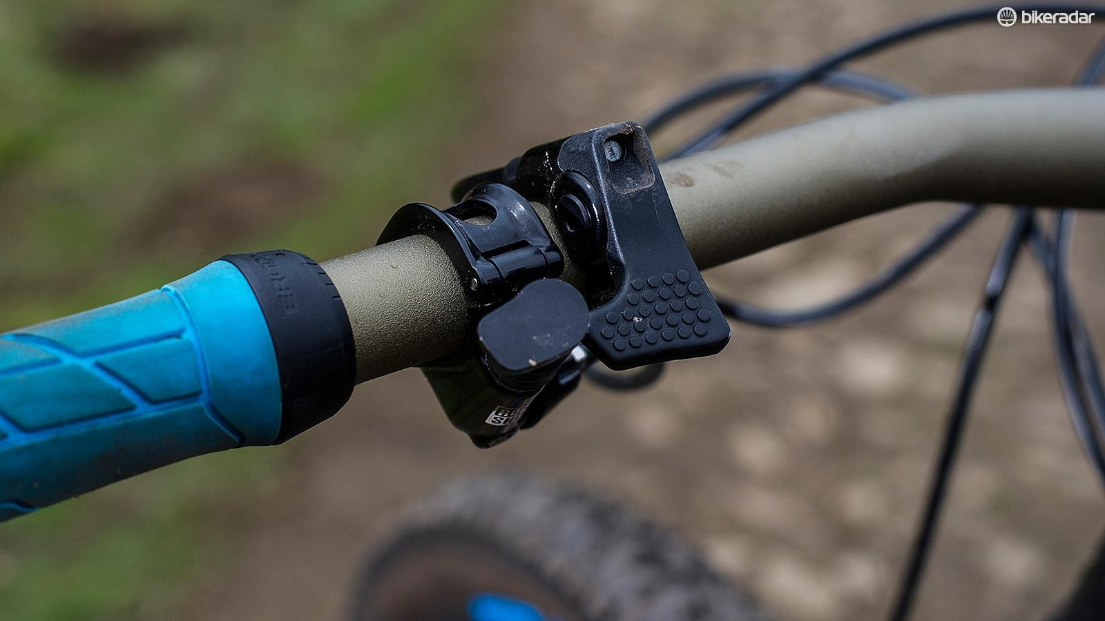 Unweight the rear end and press the bar button and you're instantly riding a sharper feeling but still long and stable trail bike