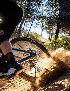 Letting the back-end get loose in the deep Malaga dust