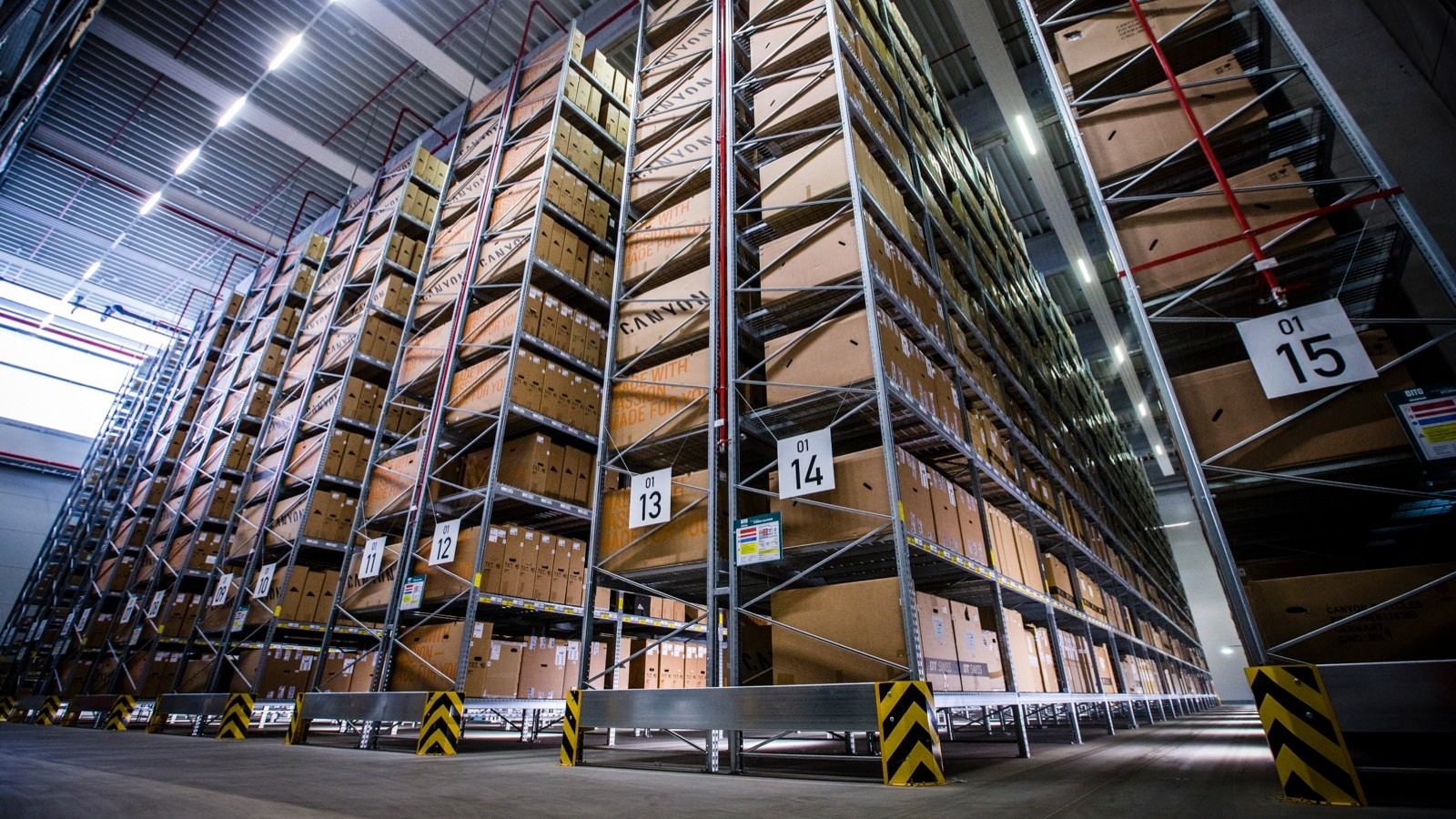 The warehouse is huge – it can store 14,000 bikes at any one time