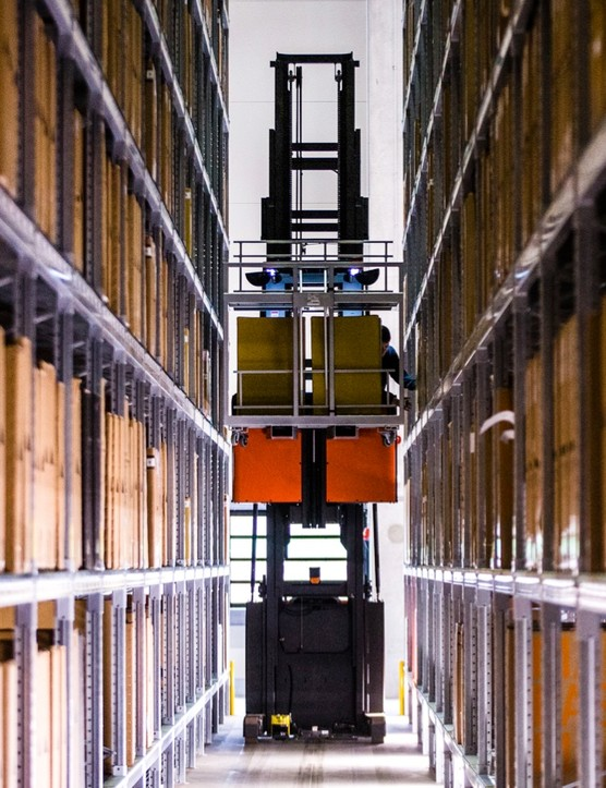 Your eyes don't deceive you – that's a driverless forklift truck