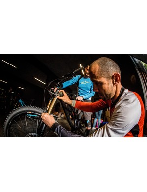 Who better to help set your bike up than Fabian Barel?