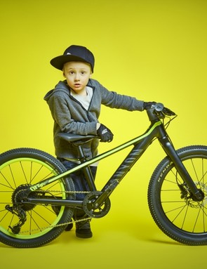 This kid has some serious attitude, and what looks like a bike to match