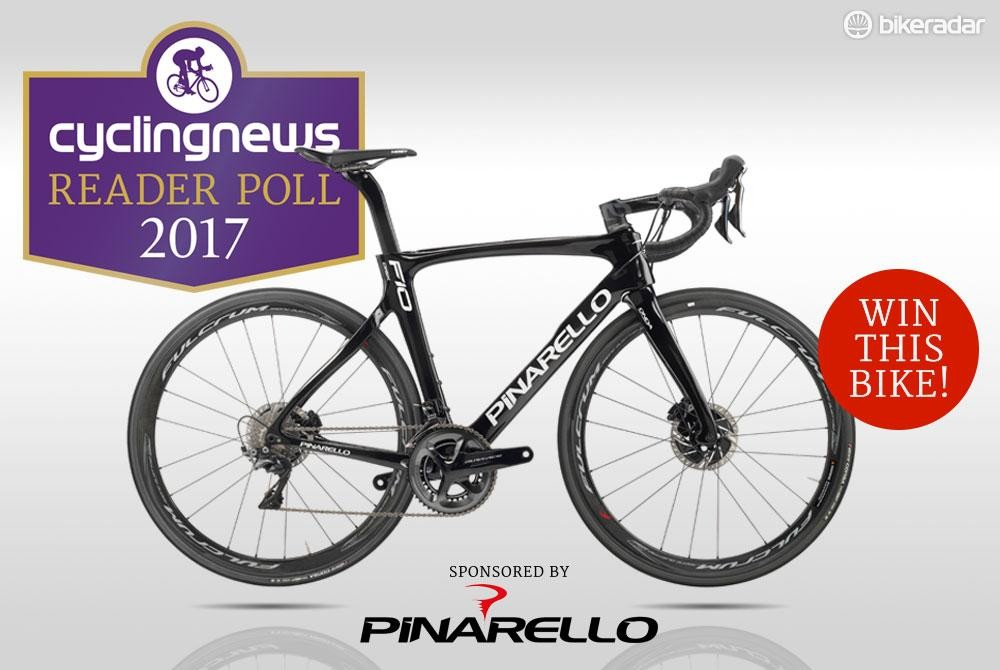 Enter the 2017 Reader Poll for the chance to win a Pinarello Dogma F10