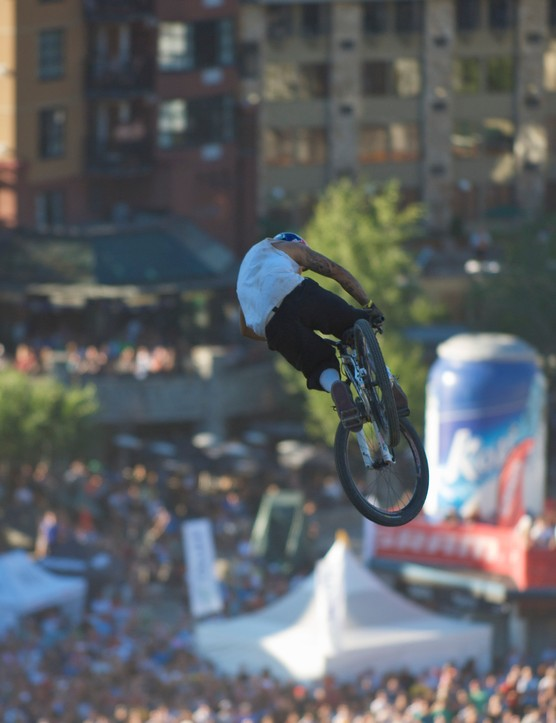 Andreu Lacondeguy gets high above the crowd