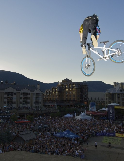 The slopestyle comp is always popular for its gravity defying stunts