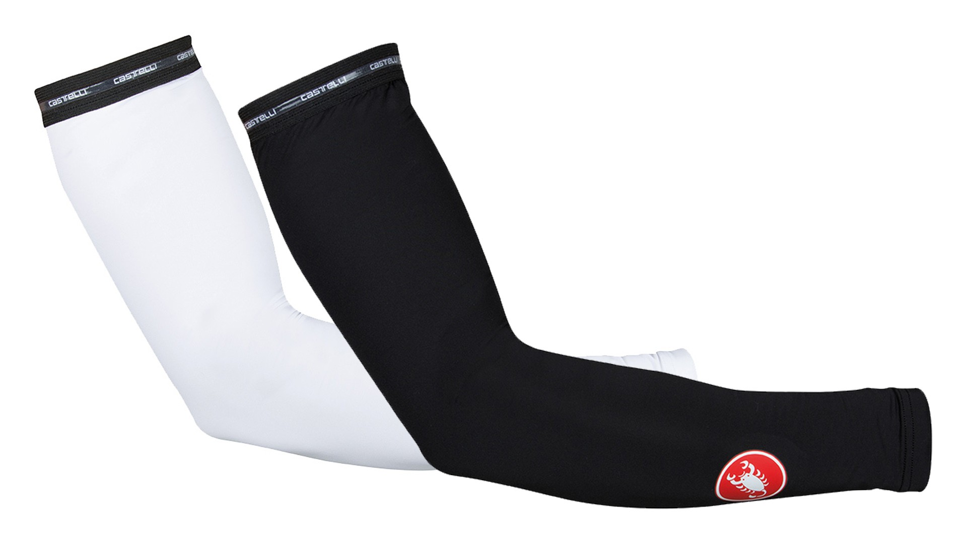 Slip on some lightweight Castelli arm sleeves to protect your arms