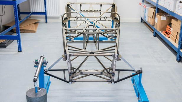 Caterham Cars use a steel frame constructed from Reynolds double-butted steel bicycle tubing