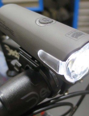 A bright front light is available seperately, or in a bundle with the rear light